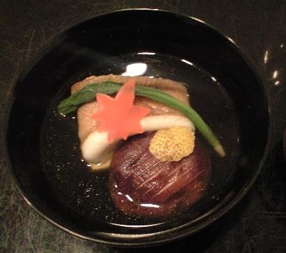 柳鰈、卵豆腐 椎茸の椀物