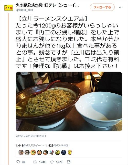 二郎系ラーメン屋で食べきれず残した結果、こうなるらしい・・・(※画像あり)