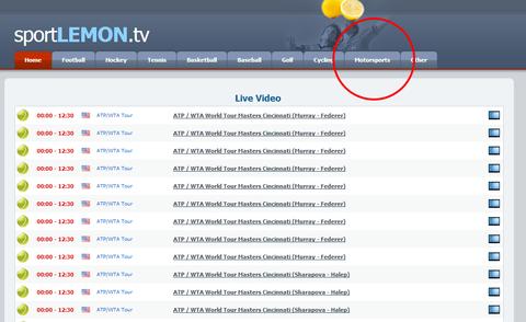 sport lemon tvトップページ