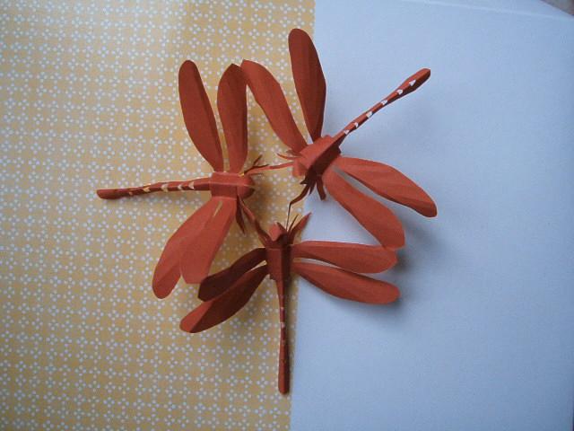 すべての折り紙 トンボの折り紙 : 切り紙に挑戦!:昆虫立体きり ...