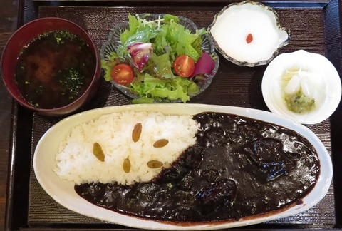 ビーフ黒カレー(金魚坂)2000