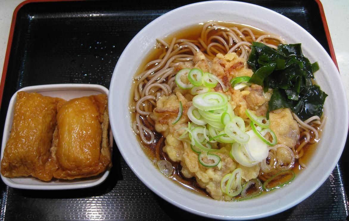 稲荷寿司・ゲソ天蕎麦