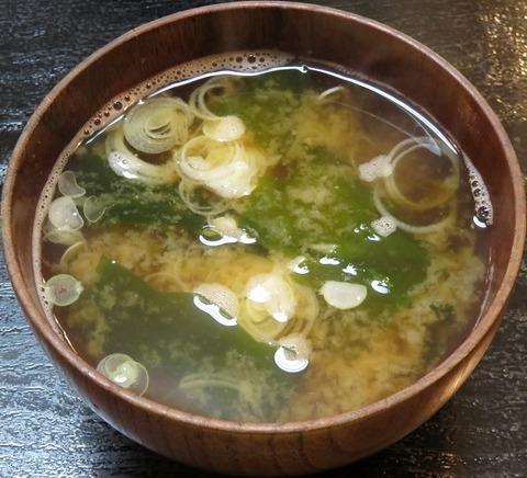 味噌汁(三崎庵) (2)