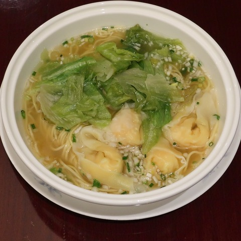 海老ワンタンスープそば(桃李)1600