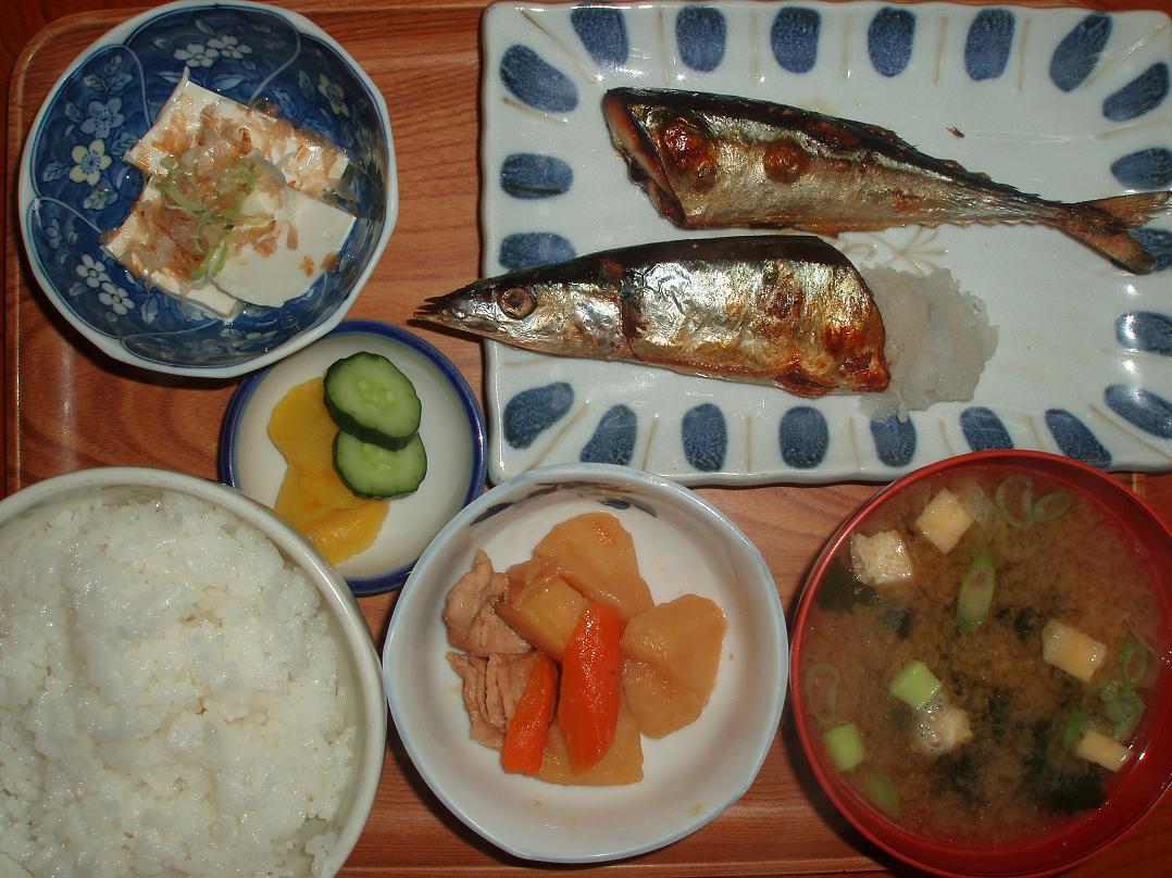 焼魚(秋刀魚)定食
