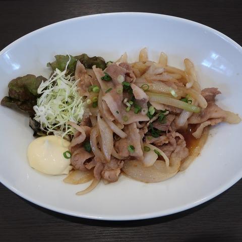 豚生姜焼定食(笹)850