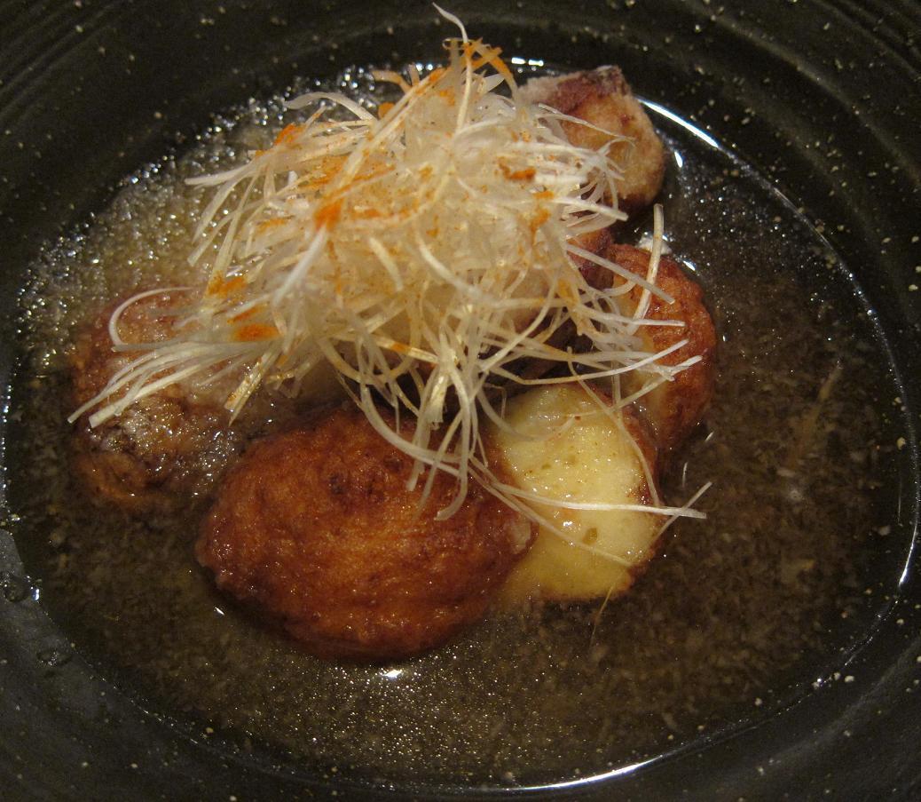 海老団子と里芋の揚げ出し