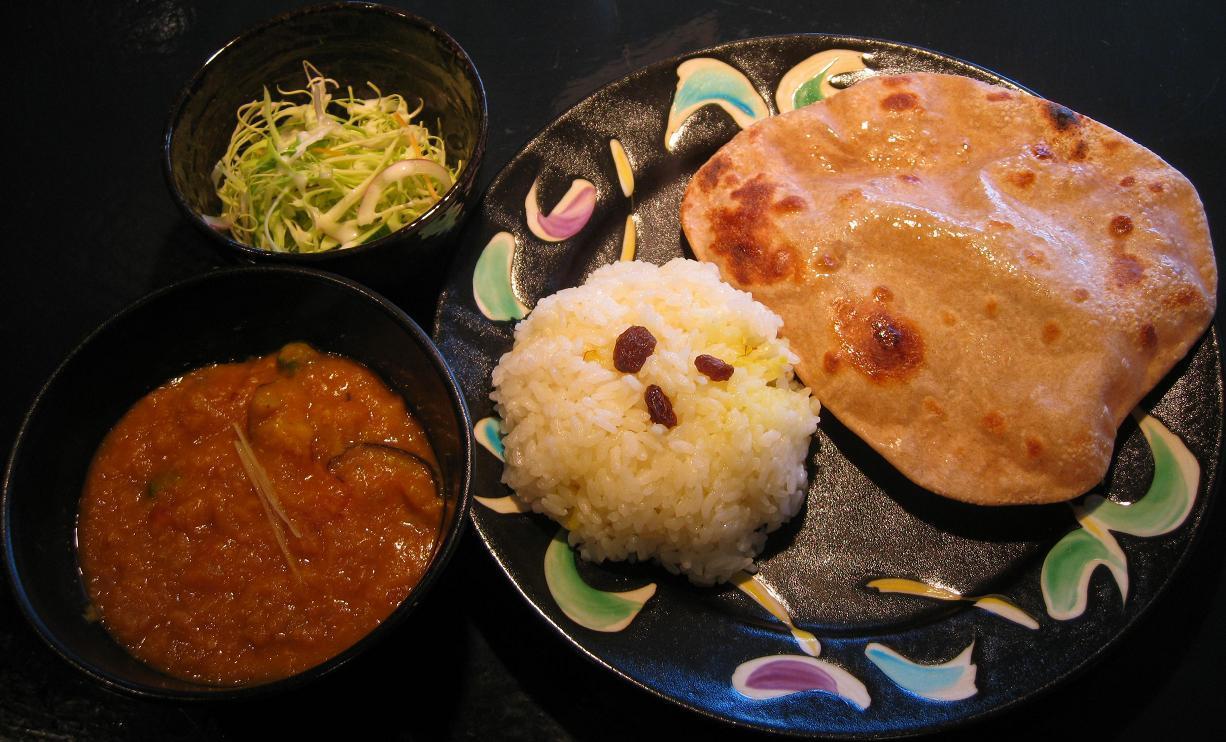 レンズ豆とオクラのカレーセット