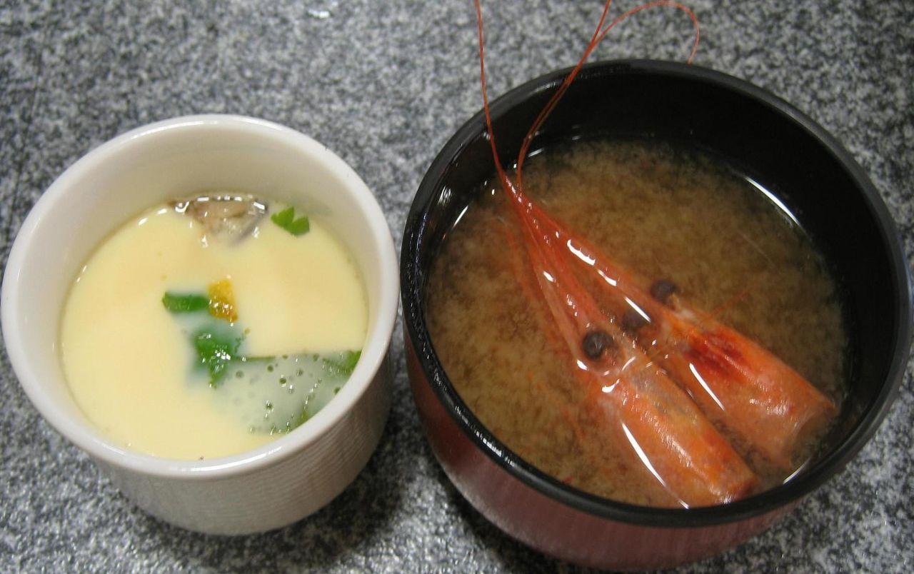 茶碗蒸し・海老汁
