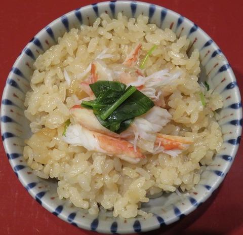 蟹釜飯③(車屋)