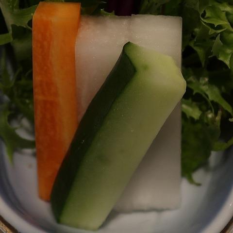 摘み菜(蒼樹庵)