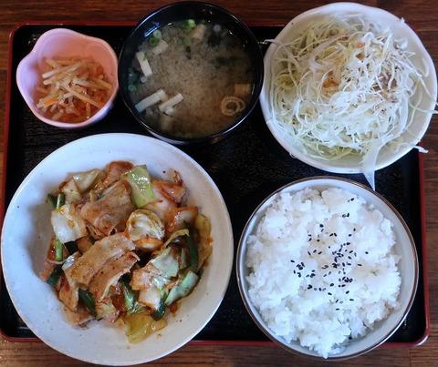 豚キムチ炒め定食(榮)880