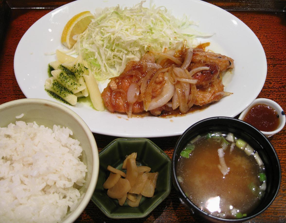 熟成豚ロースの生姜焼き定食