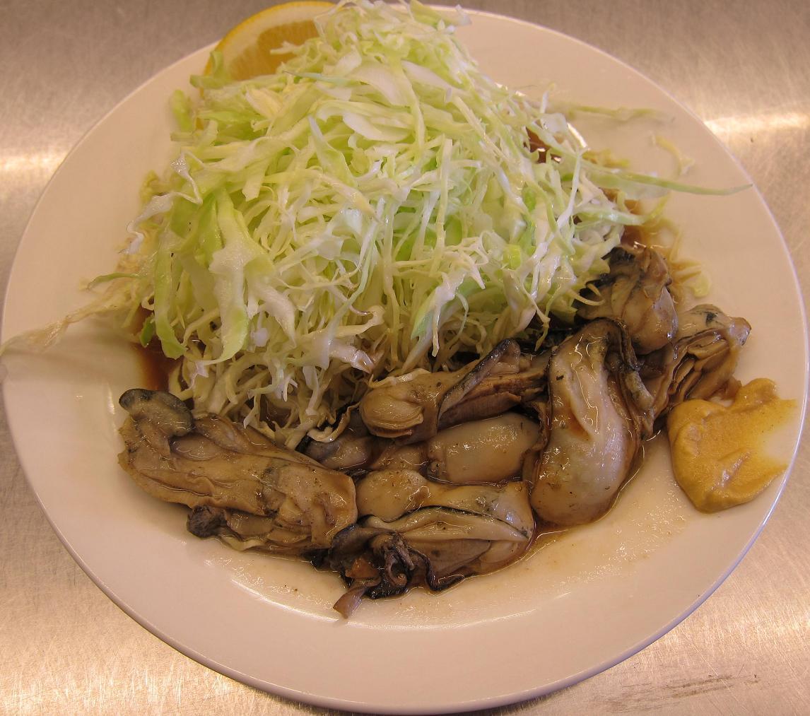カキバター焼(ライス&味噌汁付き)