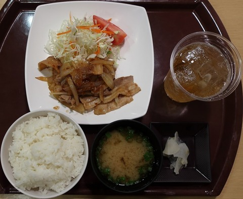 生姜焼定食(銀杏の木)740
