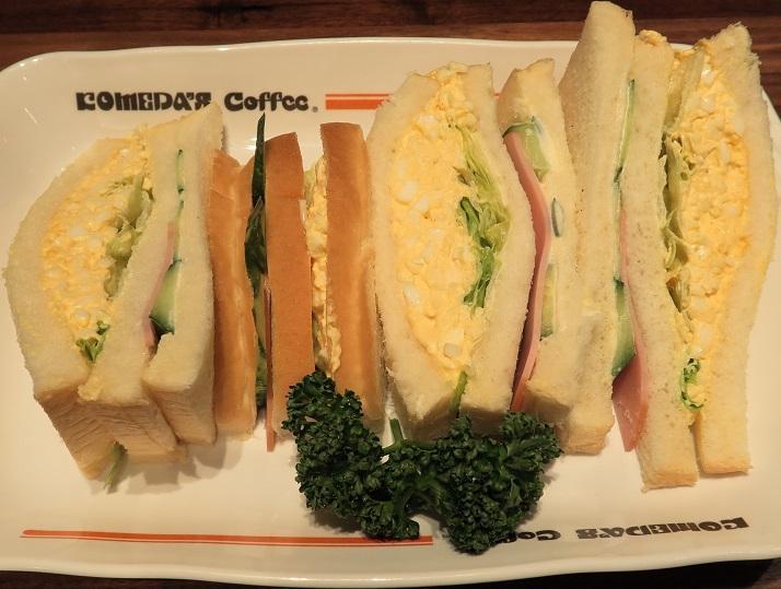 ふんわりオリジナルパンで作ったサンドイッチ