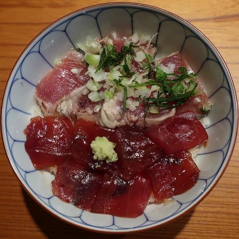 鰹たたき鉄火丼(京すし)1400