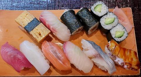 にぎり大盛(八幡鮨)1500