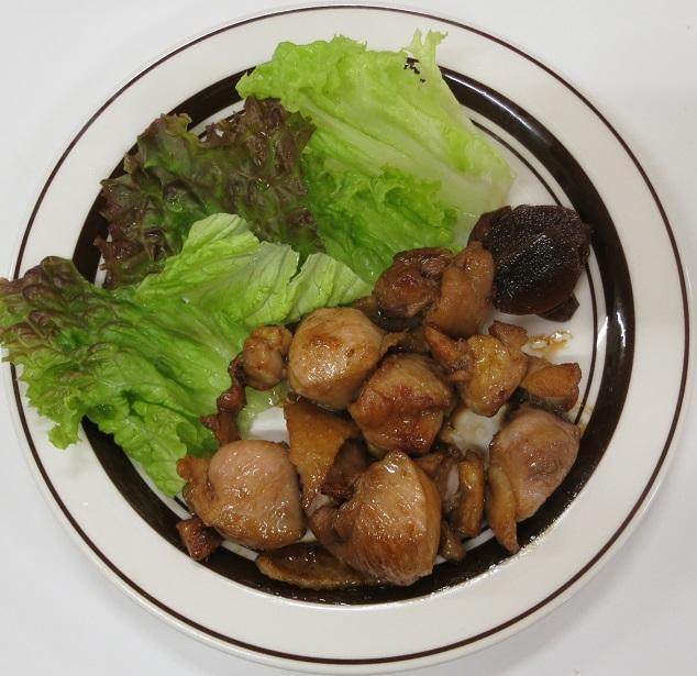 地鶏ニンニク醤油炒め