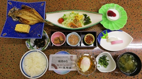 朝食(大野荘)