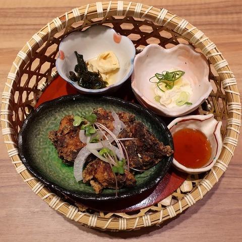鶏の塩麹唐揚げ定食(とろ麦)1220