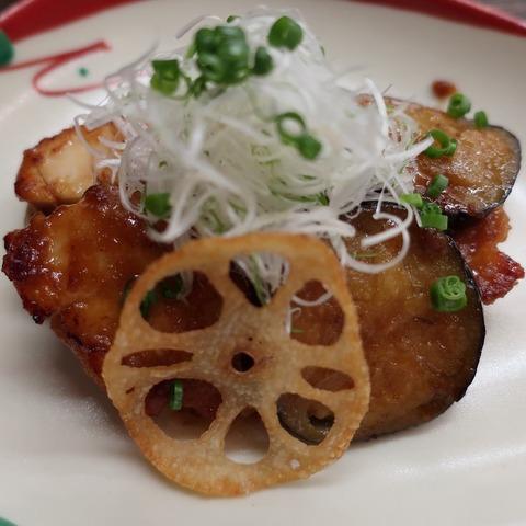 茄子と鶏のきじ焼(天乃川)1500