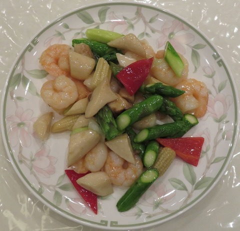 海老と野菜炒め(桃源酒家)2489