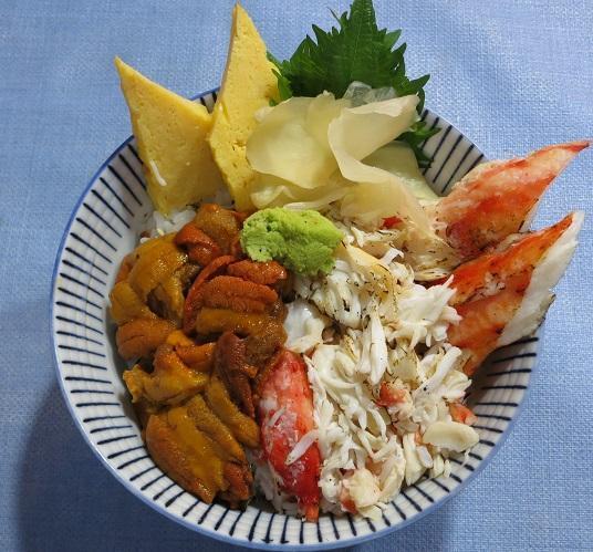 多羅波蟹・海胆丼