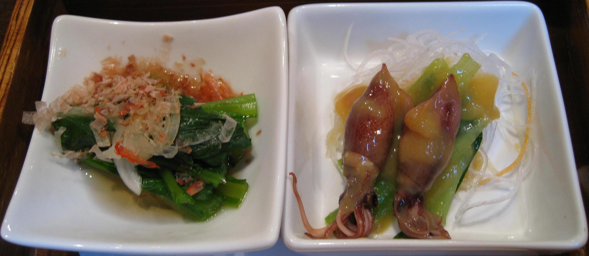 地物野菜の二種盛り