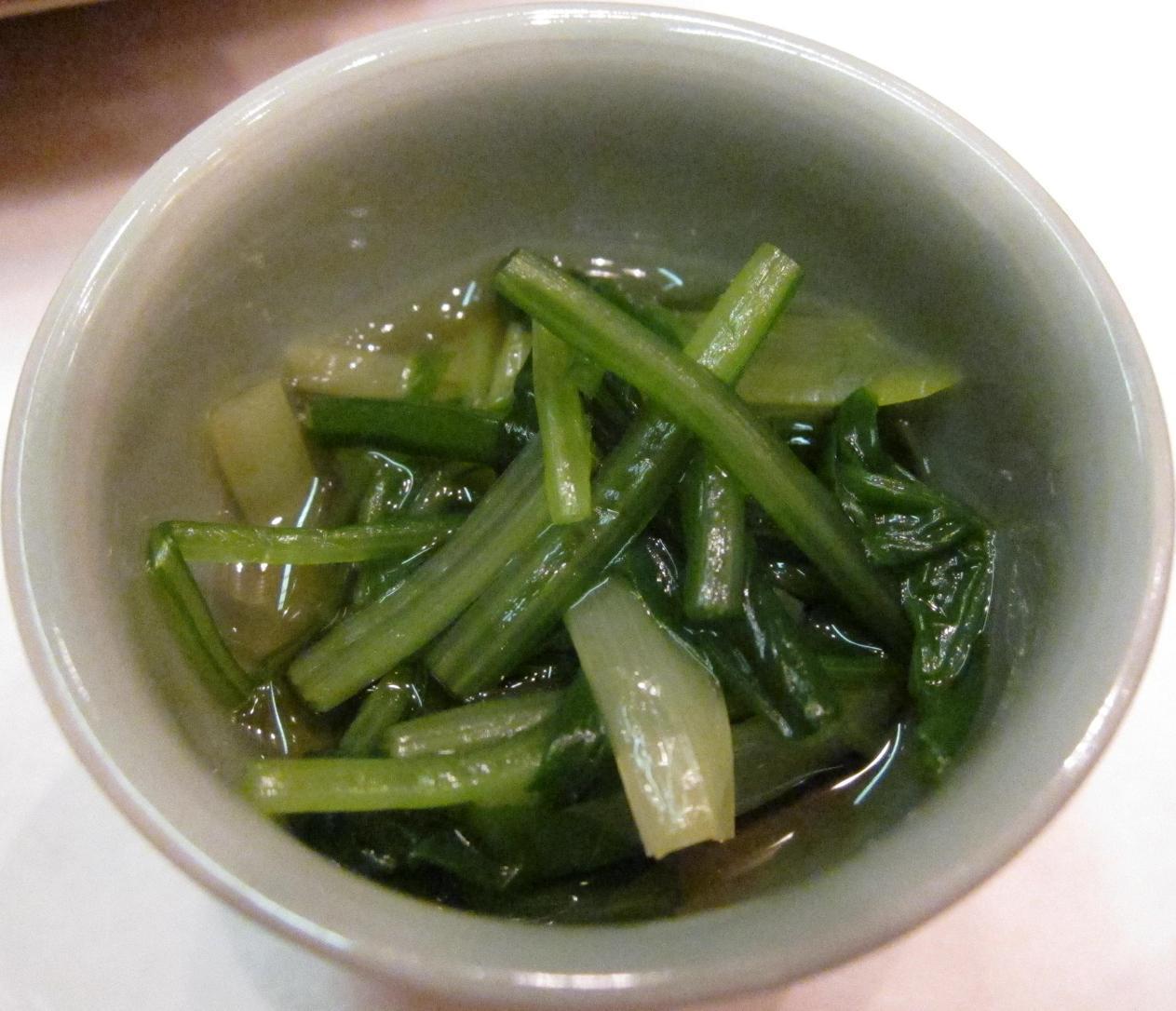壬生菜と黄韮浸し