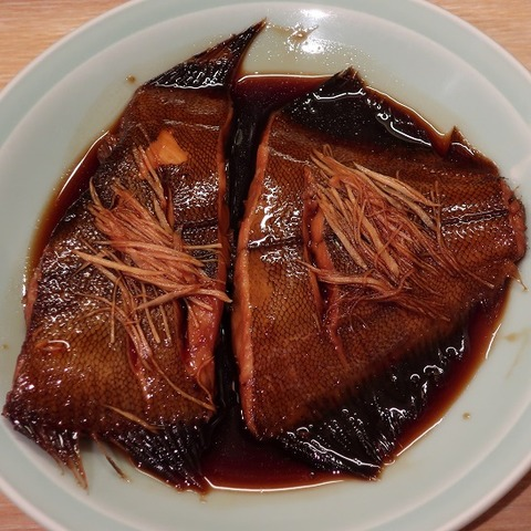 鰈煮付定食(唐井筒)1150