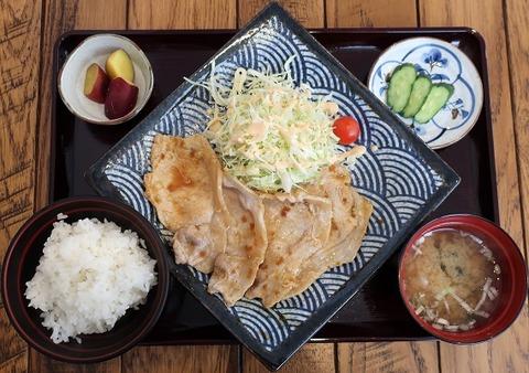 生姜焼定食(氷川食堂)900