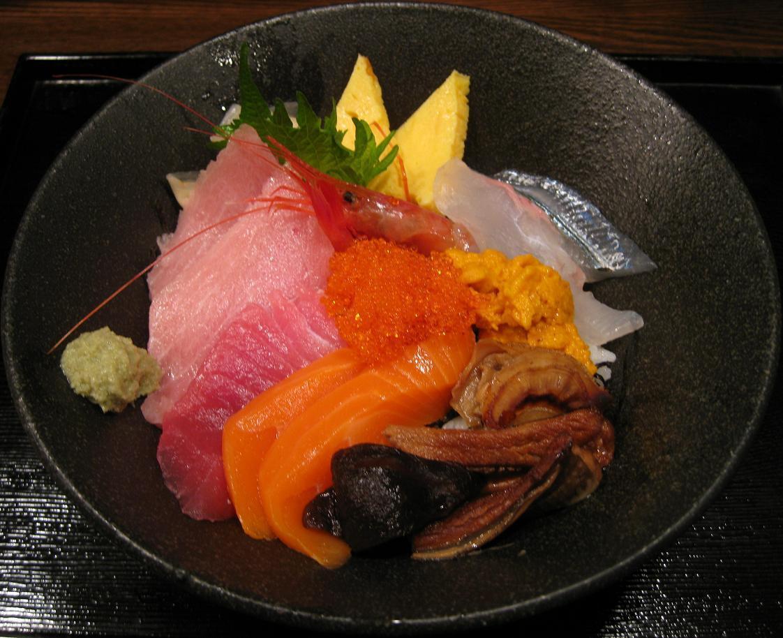 特上海鮮丼アップ
