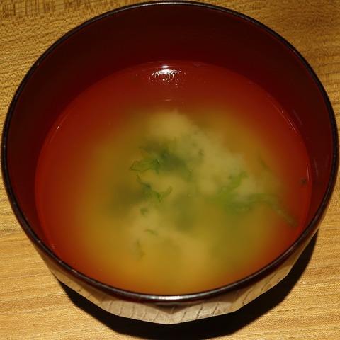 味噌汁(政五ずし)