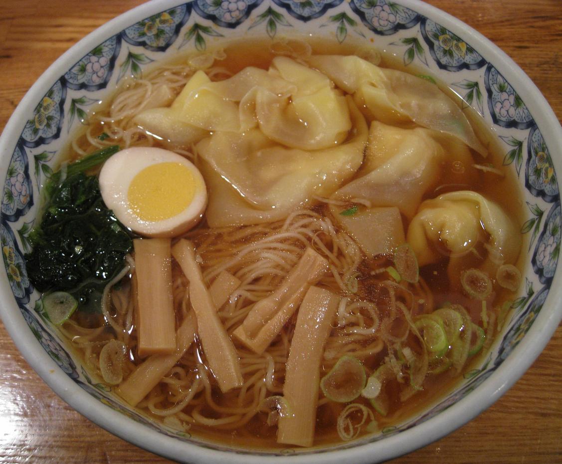 海老ワンタン麺(醤油)