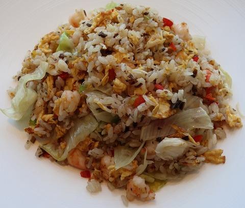 タラバ蟹と海老のレタス炒飯(飄香)2160
