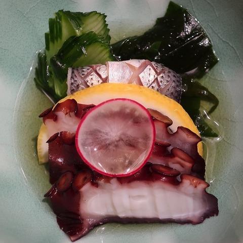 小肌と蛸の酢物(あしび)900