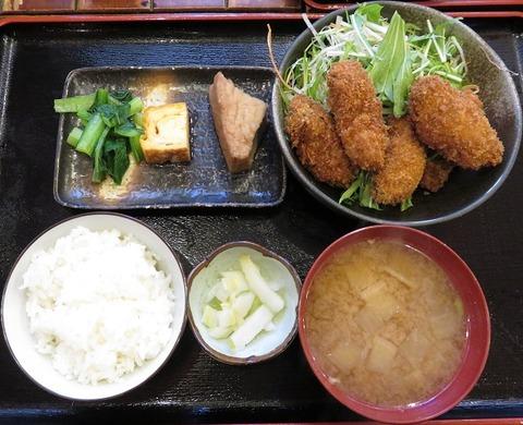 カキフライ定食(九絵)1200
