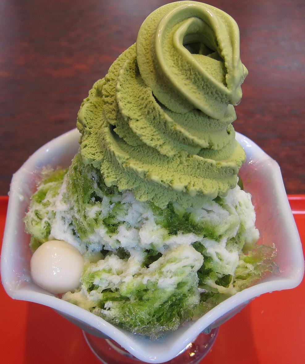 宇治白玉クリーム金時かき氷+アイスクリーム