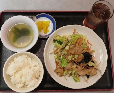 豚肉野菜炒め定食800
