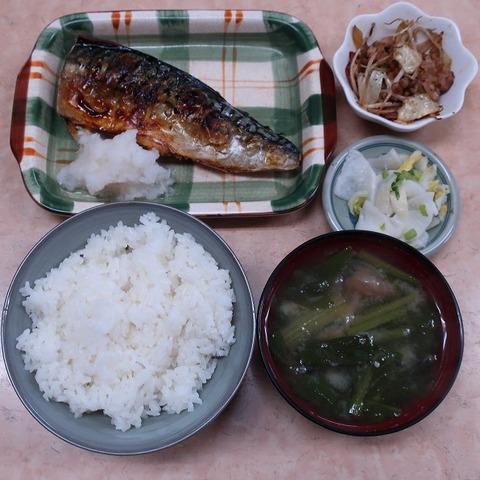 塩鯖定食(源八)920