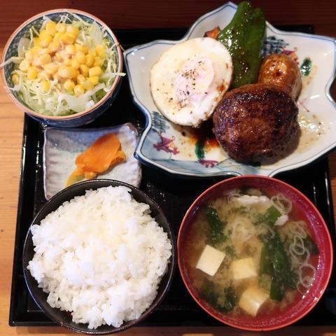 ハンバーグ定食(松栄)850