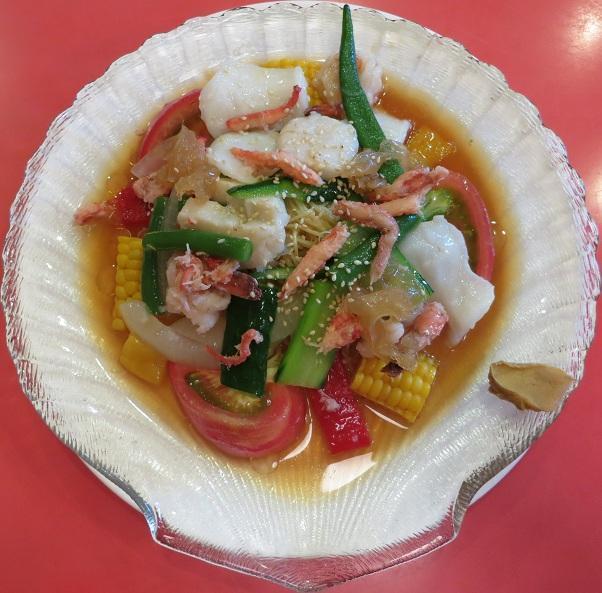 シーフード冷麺