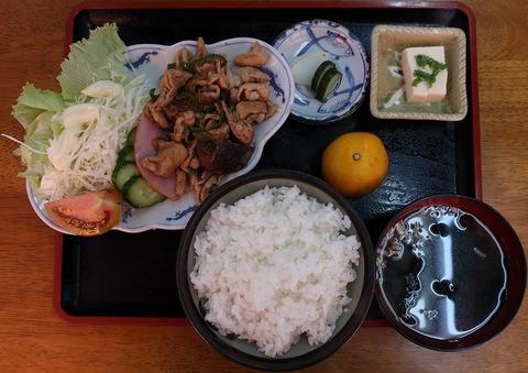 生姜焼定食(みねぎし)780