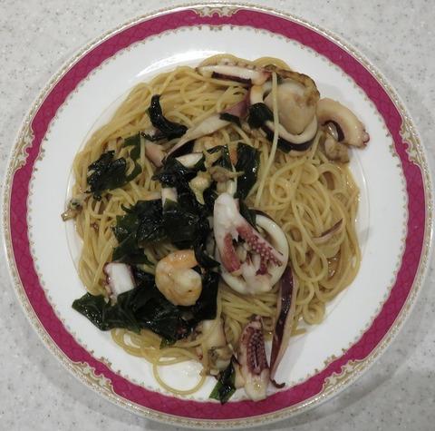 海の幸スパゲッティ醤油味大盛(ハシヤ新宿)1620