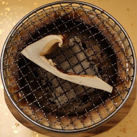 松茸炭火焼(上松屋)