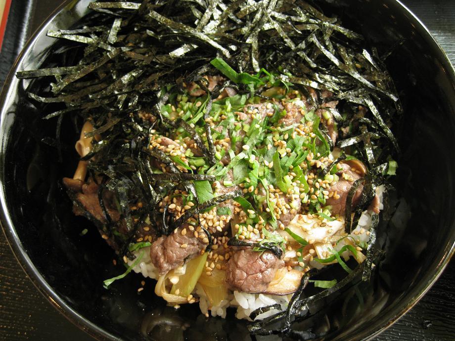 近江牛ステーキ丼