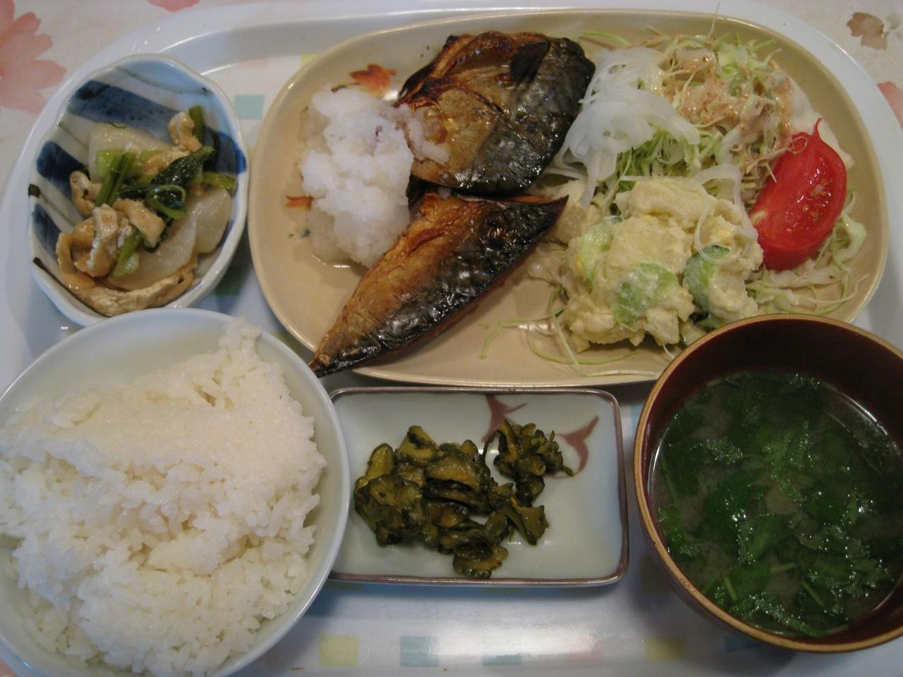 魚定食(鯖)