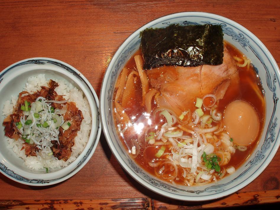 海苔鰹飯・味玉アッサリ