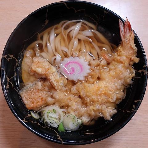 天ぷらきしめん(豊年屋)900